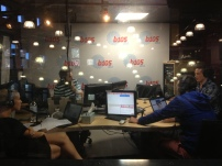 On air with B105.3 fm breakfast team.