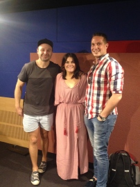 Ira with Sophie and Normie from Newcastle's NXFM breakfast radio show